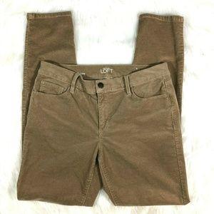 Ann Taylor LOFT Modern Skinny Tan Corduroy Pants